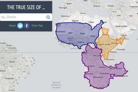 the true size of