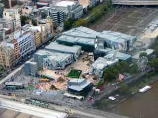 Federation Square seen from Skydeck