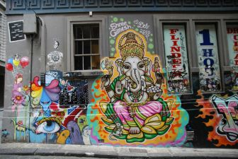 Ganesha street art - Hosier Lane by Alpha on Flickr