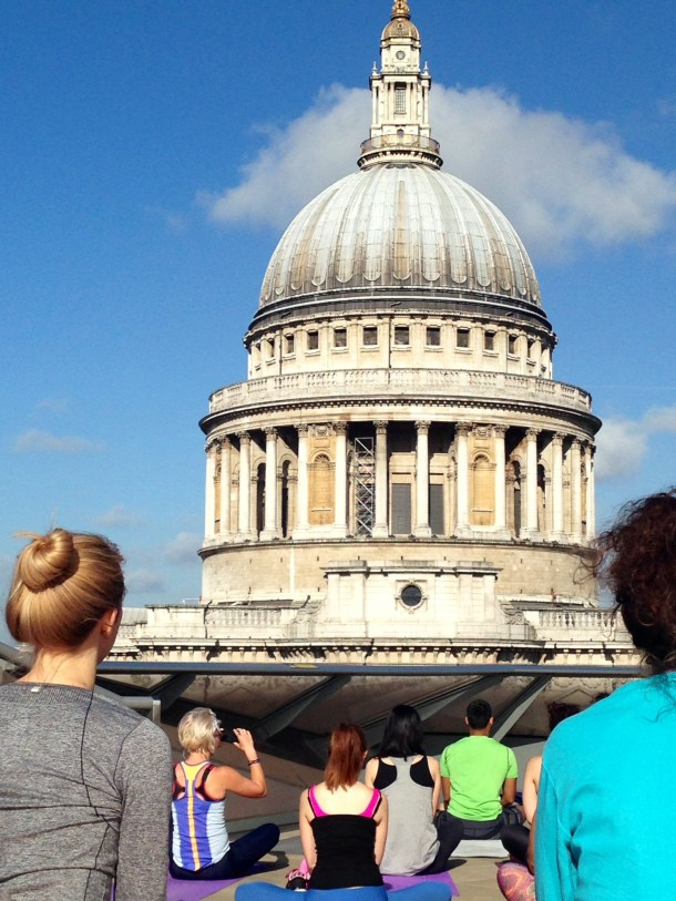 Blue Cow Yoga Free Rooftop Yoga Class London St Pauls