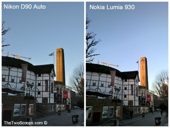 London Shakespear Globe DSLR and Nokia Lumia Comparison