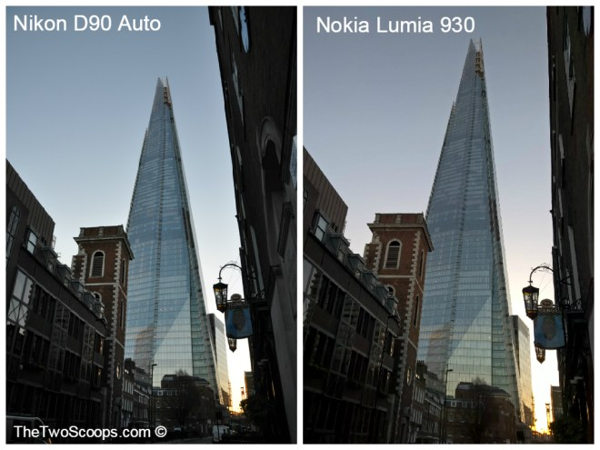 The London Shard DSLR and Nokia Lumia comparison