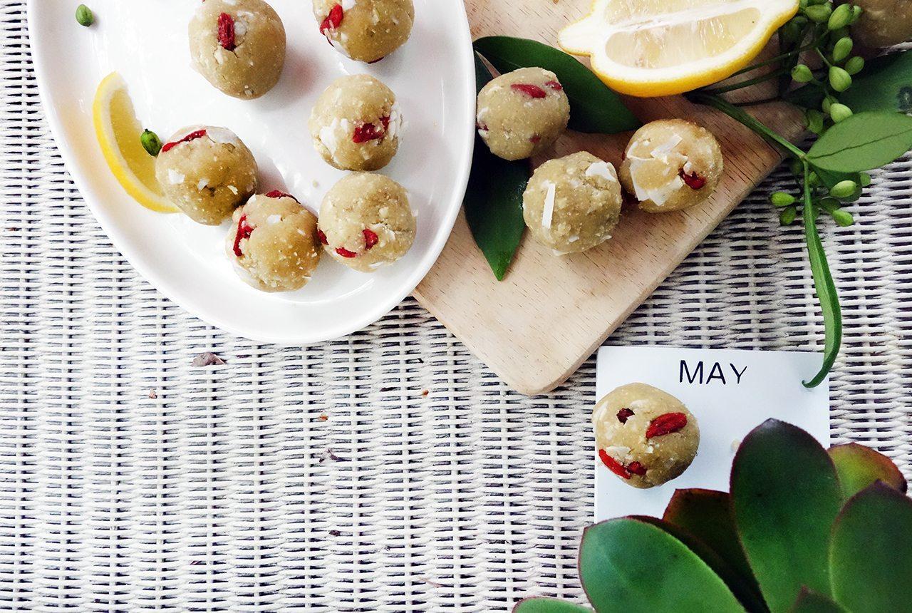Nopal Cactus Vanilla Lemon Cashew Vegan Raw Bliss Balls