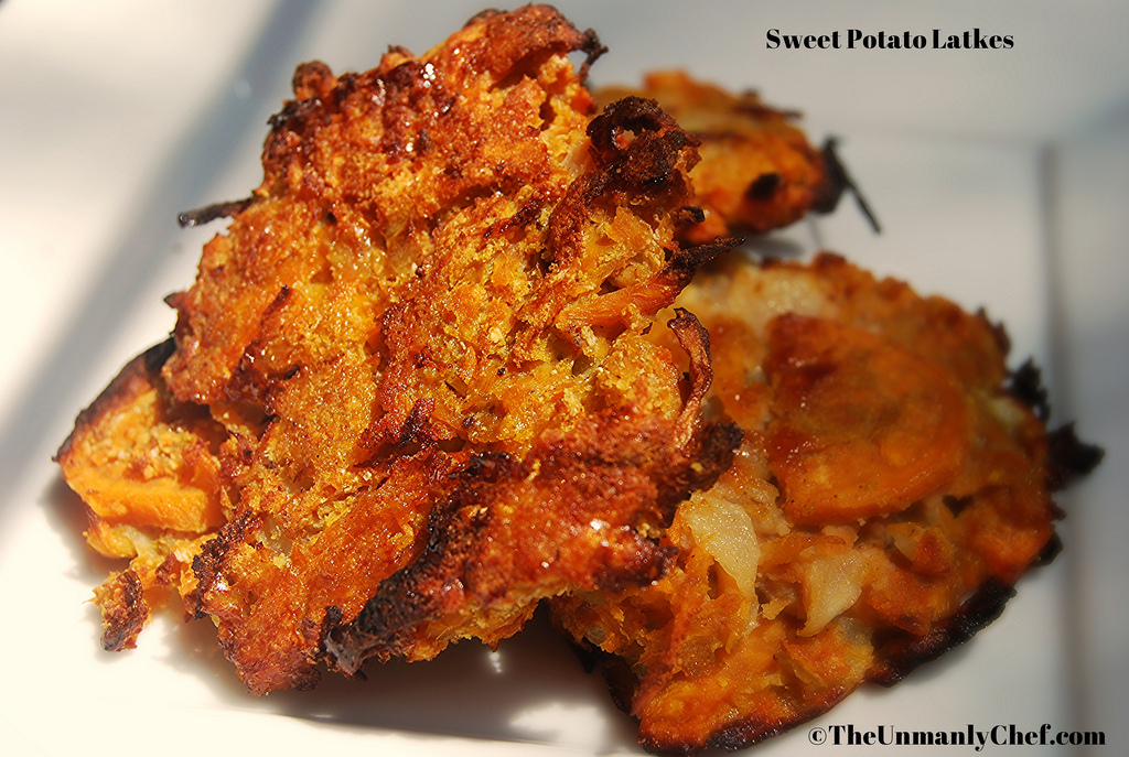 Sweet Potato Latkes | The Unmanly Chef