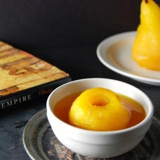 Poached Saffron Pears