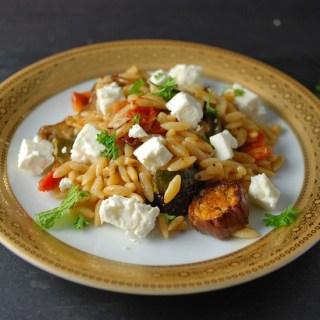 Orzo Pasta Feta Salad