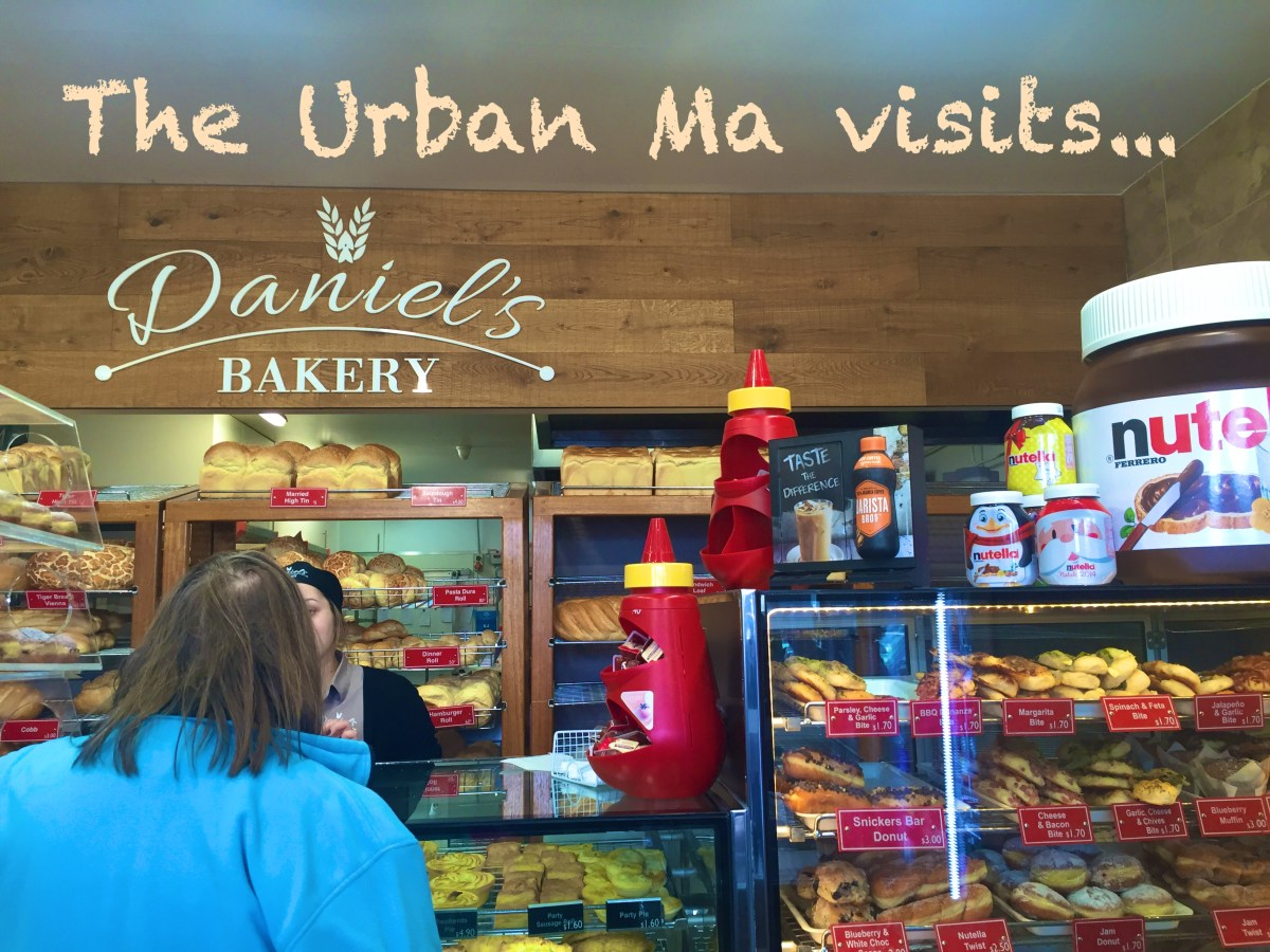 Morning coffee and nutella donuts at Daniel's Bakery