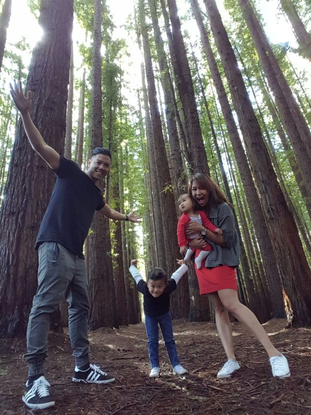 Family day trip Warburton tall trees Vicotira Redwood Forest