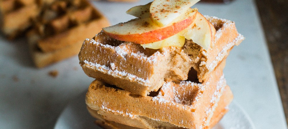 Grain Free Spiced Apple Cider Waffles