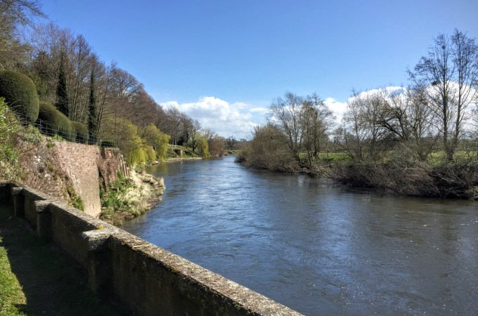 Looking over the River Wye while at the National Trust The Weir Garden in Herefordshire