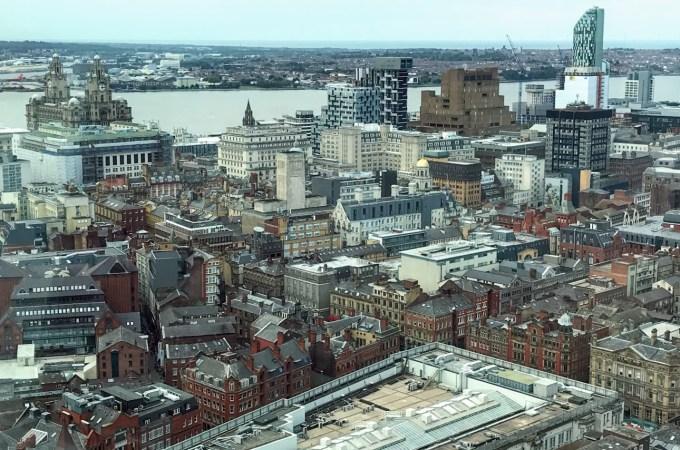 从无线电城塔看利物浦的全景