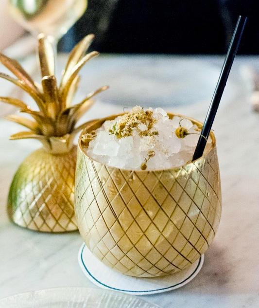 Pineapple | ZZ's Clam Bar, NYC | $20 American gin, house limoncello, chamomile Photo credit: @minhasdicasdeny