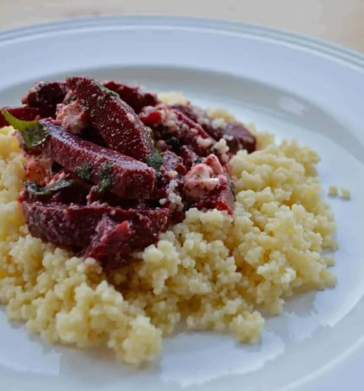 Chocolate and beetroot salad