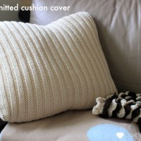 Tutorial - knit a simple cushion cover {free pattern}