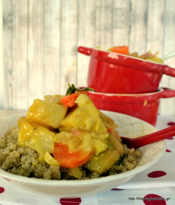 Πορτοκαλένια λαχανικά ρίζες φούρνου με κινόα