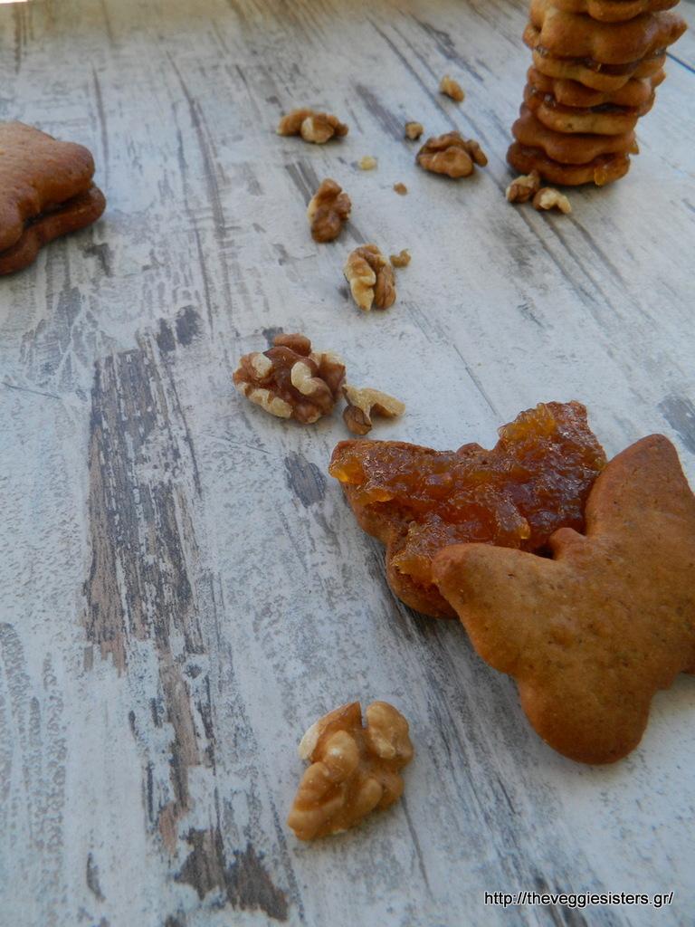 Μπισκότα με μαρμελάδα καϊσι