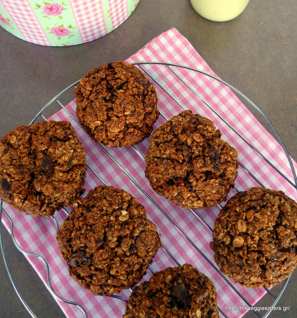 Γλυκά : Υπέροχα, υγιεινά μπισκότα βρώμης με σοκολάτα