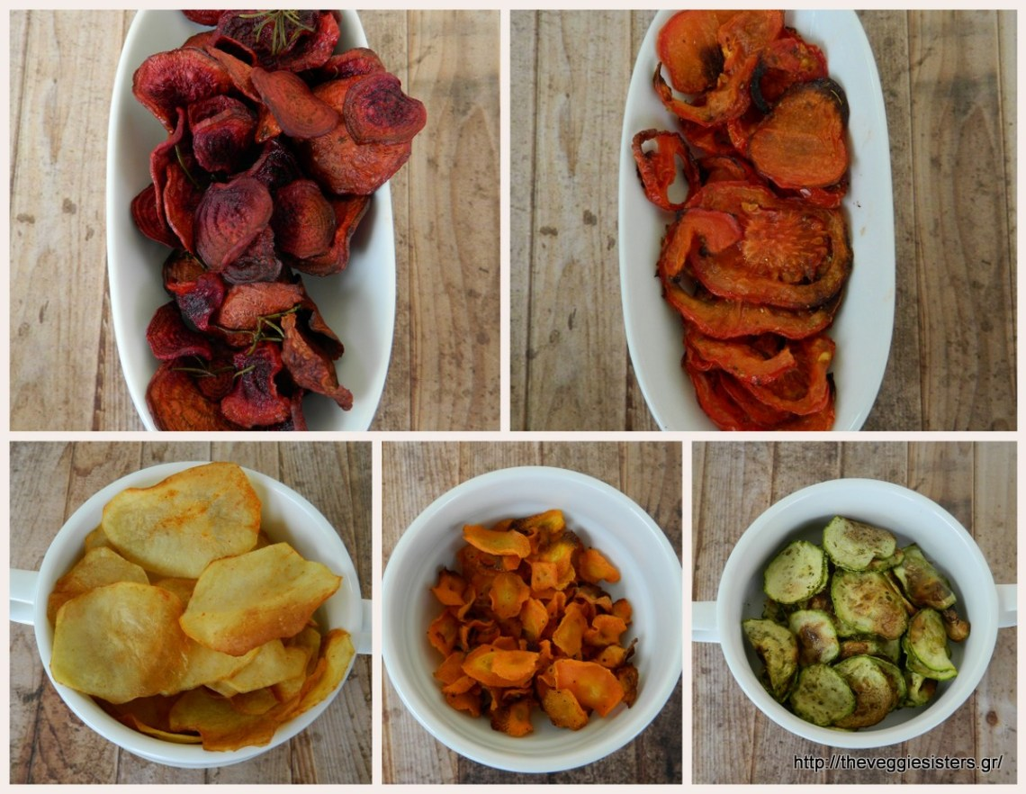 Homemade veggie chips