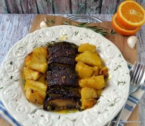 Το ψητό του χορτοφάγου - Orange portobello potato bake