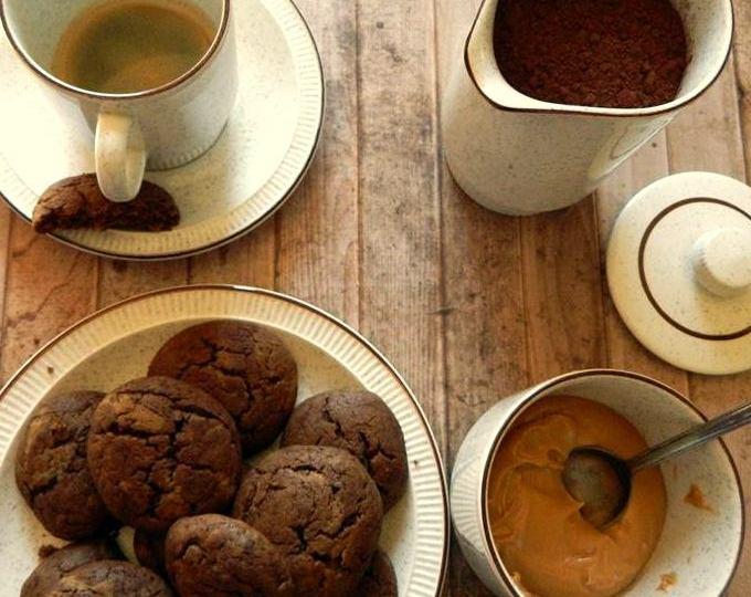 Vegan cocoa peanut butter cookies