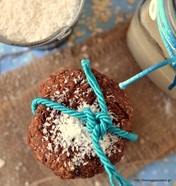 Μπισκότα με σοκολατένιο ταχίνι, βρώμη κ καρύδα - Chocolate tahini coconut oat cookies