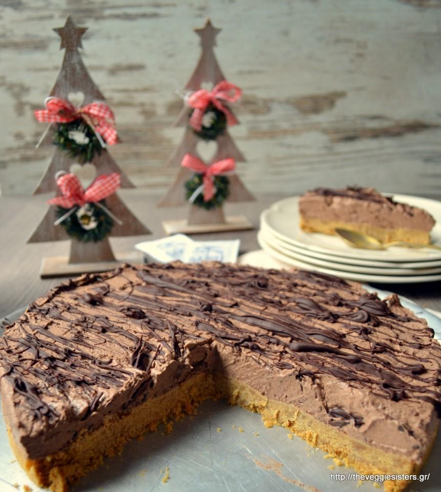 Υπέροχο cheesecake σοκολάτα-καρύδα – Vegan chocolate coconut cheesecake