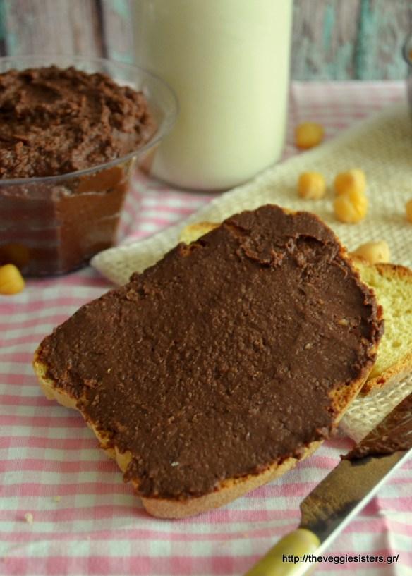 Σοκολατένιο άλειμμα από ρεβύθια
