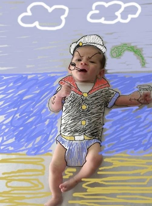 Top 10 Funny Baby Portrait Doodles