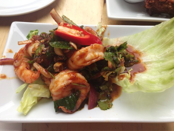 King prawn salad at Kaosarn