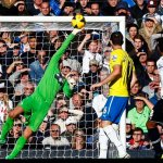 Newcastle United goalkeeper Krul makes a save from Tottenham Hotspur's Paulinho during their English Premier League soccer match at White Hart Lane in London