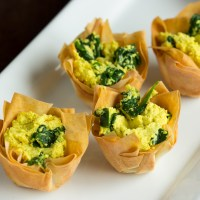 Spinach Tofu Quiche Cups