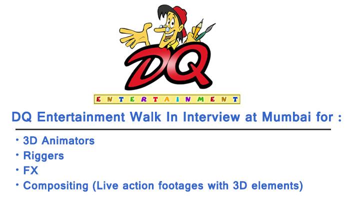 DQ Entertainment Walk In Interview in Mumbai