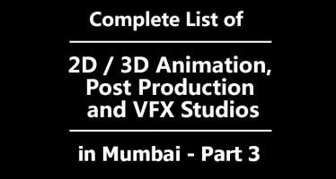 list of vfx studios in mumbai