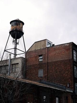 Watertowers, and the industrial landscape of Brooklyn, NY