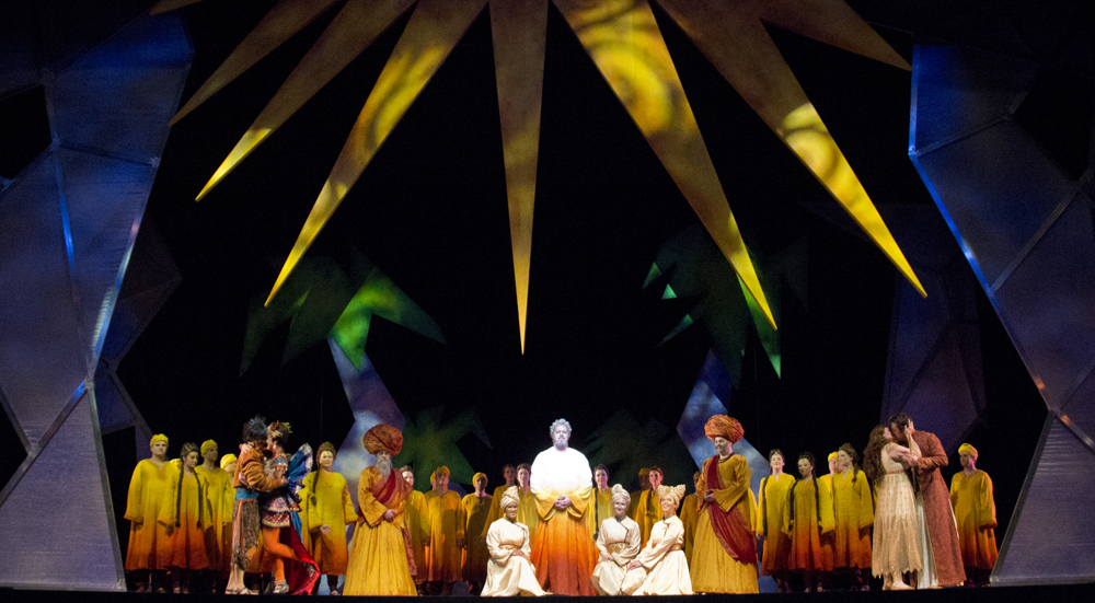 The Magic Flute ends with the majority of characters (less the Queen of the Night and her subjects) finding enlightenment.