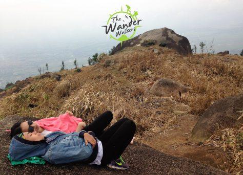 Sleeping at Chua Chan Mountain's Summit