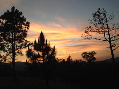 Ta Nang's skies during sunset