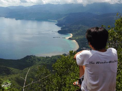 Overlooking Sabang beach from Mt bloomfield. Backpacking Palawan