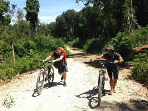 Pushing up the slopes, Port Barton - Backpacking Palawan