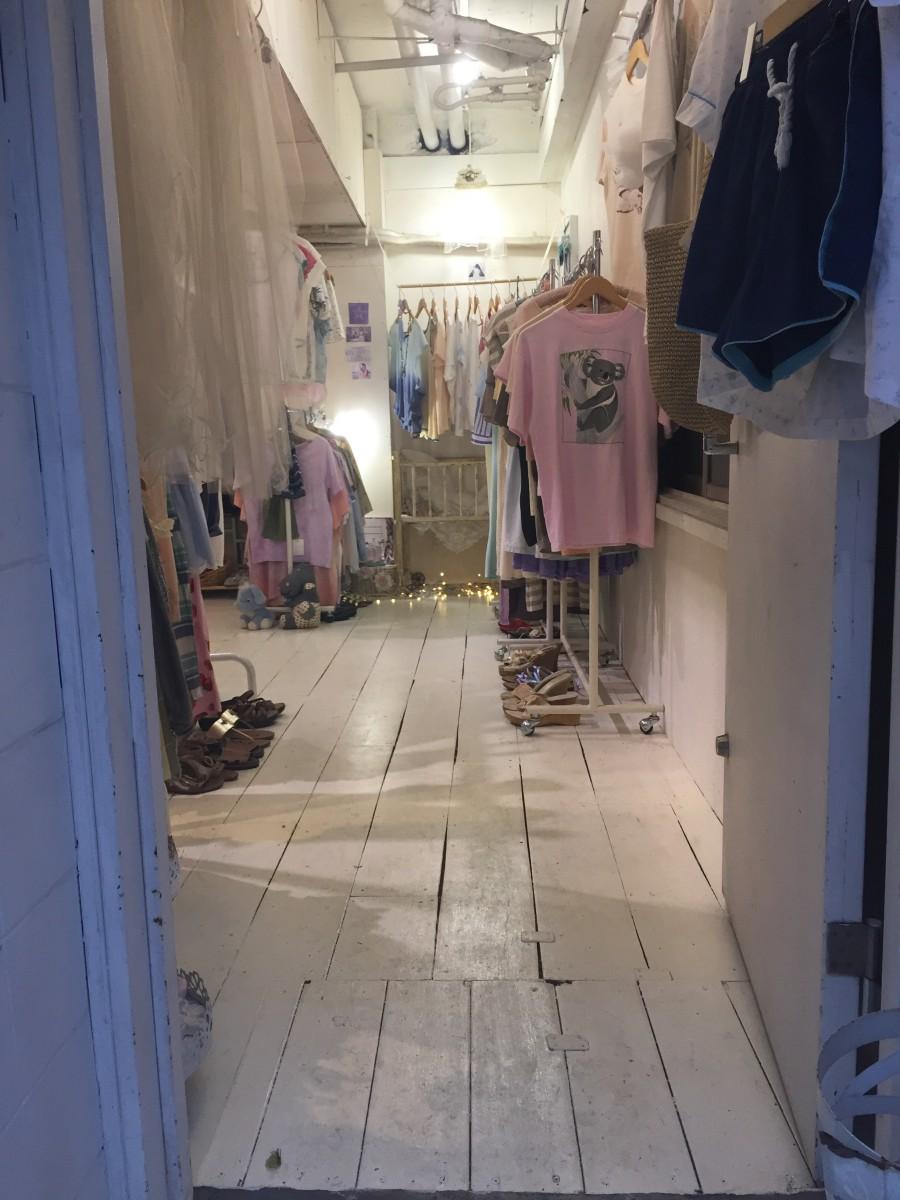 "Vintagebutik med tema ""Pink""."