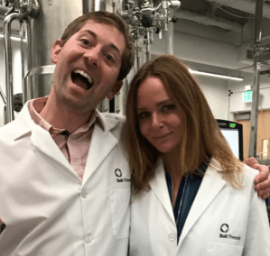Bolt Threads CEO Dan Widmaier and Stella McCartney in the lab. Photo by Bolt Threads