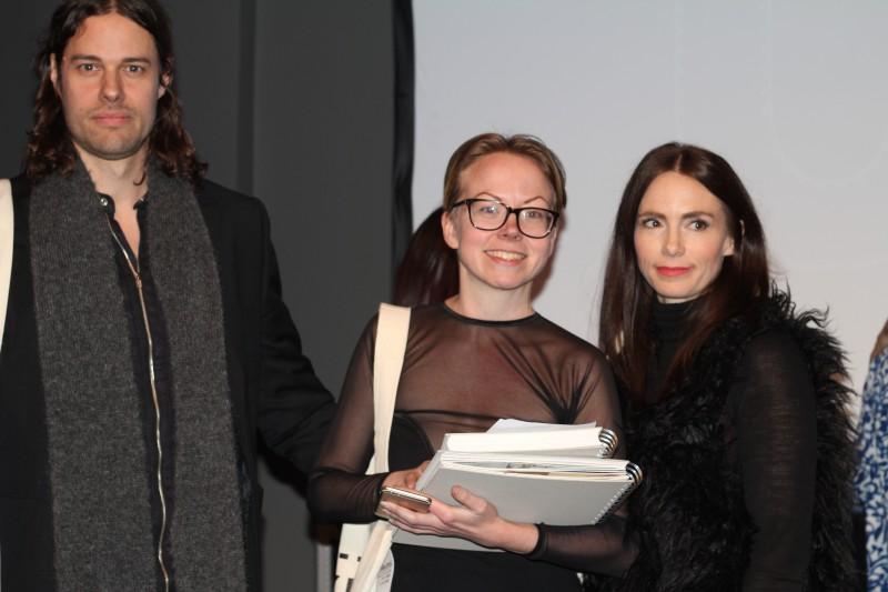 Emelie Svensson tillsammans med Per Andersson och Elin Frendberg