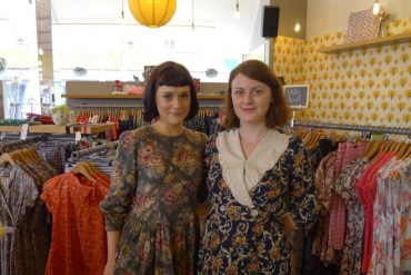 Visited the cute store Carousel in Dublin. The two ladies workig in the store looked fabulous in their vintage dresses.
