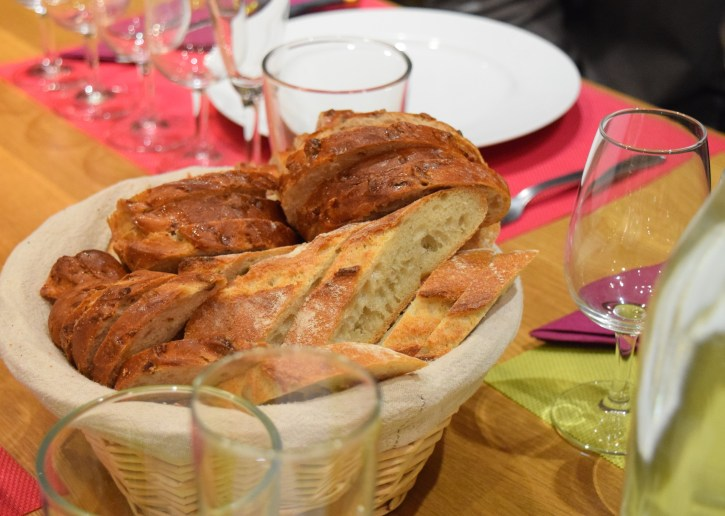 Crusty French bread we couldn't get enough of