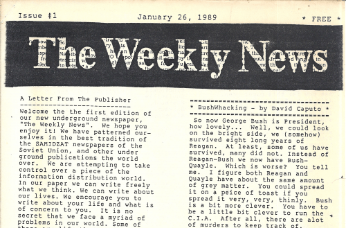 The Weekly News Issue 1