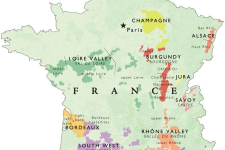 Map Of Wine Regions In France - Us wine regions map