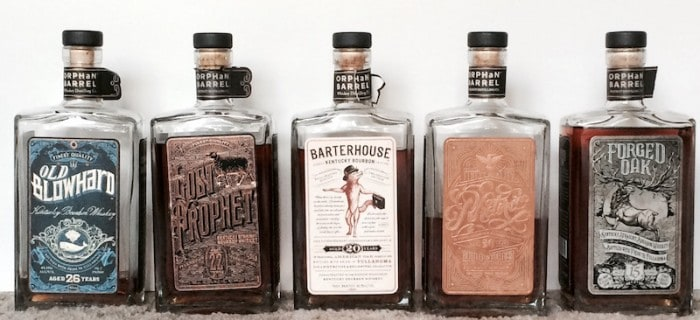 Orphan Barrel bourbons