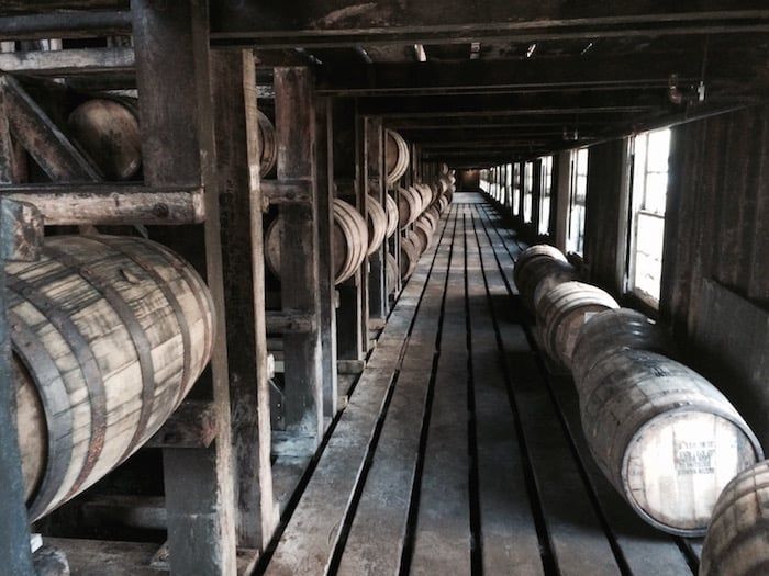 Wild Turkey whiskey warehouse