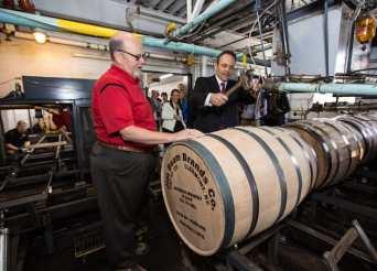 Jim Beam 14 millionth bourbon barrel