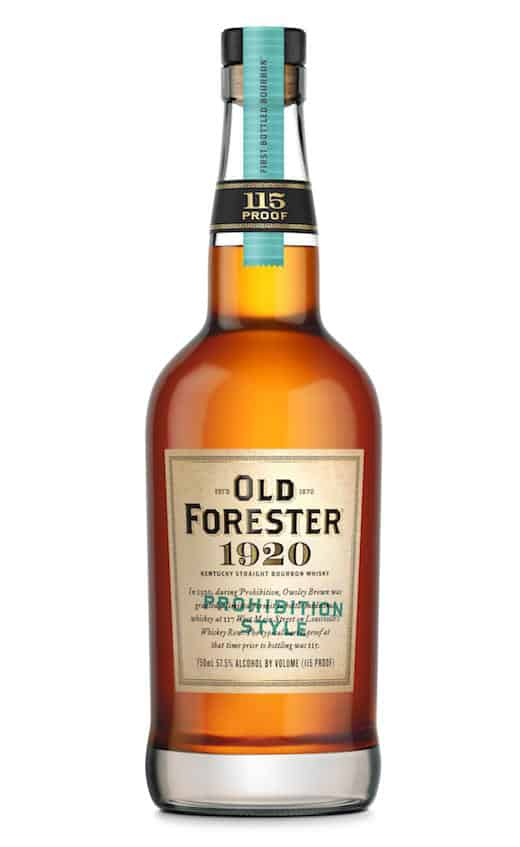 Old Forester 1920 Prohibition Style Bourbon a Nod to Nation's Dry Period